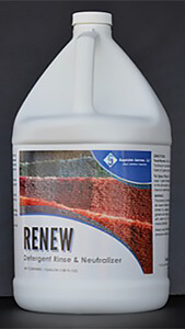 Renew, a detergent rinse and neutralizer